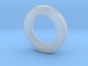 Spiral Ring Pendant in Smooth Fine Detail Plastic