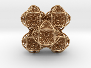 Flower of Life Stack 7 in Natural Bronze