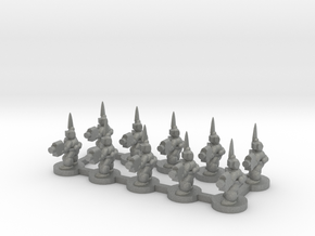 6mm - Urban Captains x 10 in Gray PA12