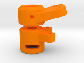 Link mount and End cap for 12mm OD tube and 11mm O in Orange Processed Versatile Plastic