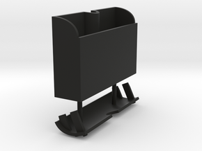 Box-No-Hinge in Black Natural Versatile Plastic