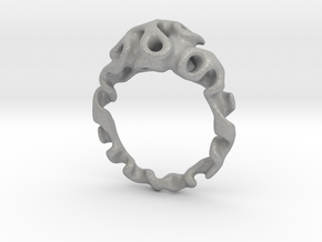 Gyroidring  in Aluminum