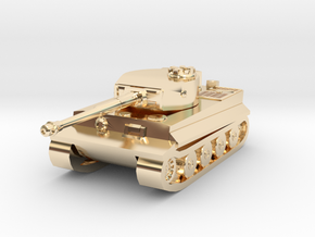 Tank - Tiger - size Small  in 14k Gold Plated Brass
