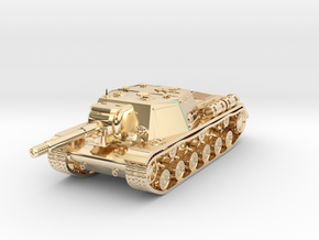 Tank - ISU-152 - size Large in 14k Gold Plated Brass