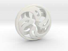 Wind Pendant in White Natural Versatile Plastic