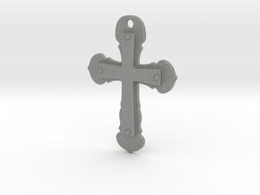 Double cross pendant in Gray PA12