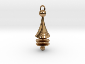 Orbit City Pendant in Polished Brass