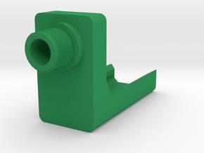VP9 Frame Mounted Barrel Adapter (14mm-) in Green Processed Versatile Plastic