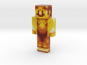 Gold_Mario | Minecraft toy in Natural Full Color Sandstone