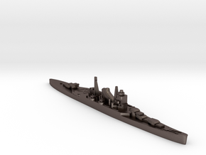 IJN Suzuya cruiser 1:1800 WW2 in Polished Bronzed-Silver Steel