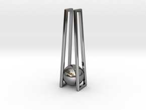 Geometric Pendant: minimalist geometry in Fine Detail Polished Silver