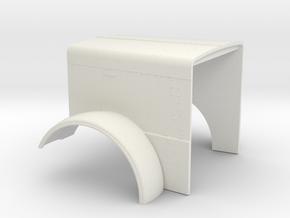 1/16 scale Peterbilt 379 Long Hood in White Natural Versatile Plastic