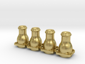 Standard NSWGR buffer stock for Engines and Tender in Natural Brass
