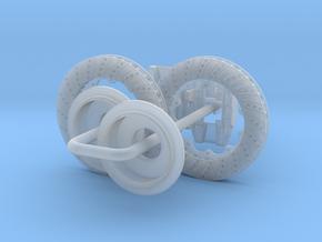 1/16 Modern 11.6 Inch Diam 4 Piston Disk Brake Set in Smooth Fine Detail Plastic