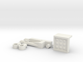 Butcher's Armory: Missile Pod and Dual Cannon in White Natural Versatile Plastic