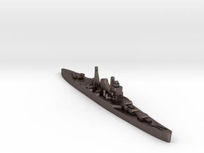 IJN Suzuya cruiser 1940 1:3000 WW2 in Polished Bronzed-Silver Steel