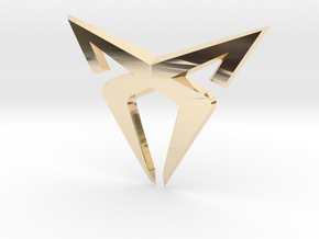 "Leon Cupra Bootlatch ""S"" Badge - Logo Part in 14K Yellow Gold"