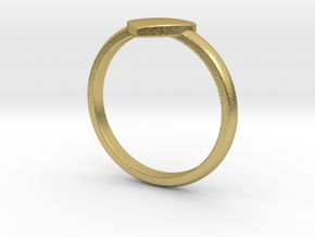 Simple heart ring  in Natural Brass