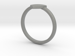 Simple heart ring  in Gray PA12