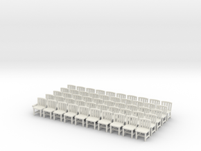 1/72 scale chairs x50 in White Natural Versatile Plastic