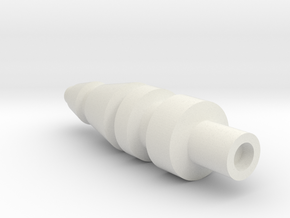 Siege Hound G1 Style Missile in White Natural Versatile Plastic