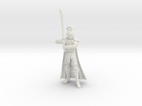 Elf Soldier in White Natural Versatile Plastic