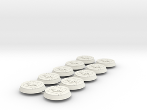 Space Crows 32mm bases x10 #1 in White Natural Versatile Plastic