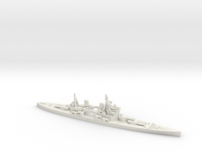 British King George V-class Battleship in White Natural Versatile Plastic