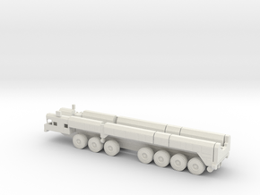 1/87 Scale Russian SS-25 RT-2PM Missile Launch Veh in White Natural Versatile Plastic