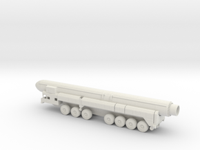 1/100 Scale Russian SS-25 RT-2PM Launcher W Missil in White Natural Versatile Plastic