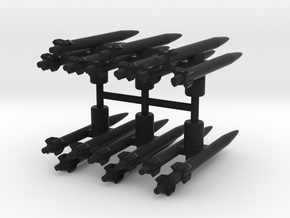 Seeker Missiles in Black Natural Versatile Plastic: Large