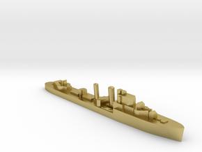 HMS Ilex destroyer 1:2400 WW2 in Natural Brass
