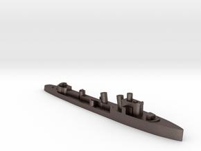 Italian Ostro destroyer WW2 1:3000 in Polished Bronzed-Silver Steel