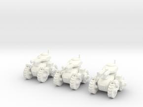 6mm - All terrain Dual Railgun Assault Tank in White Processed Versatile Plastic