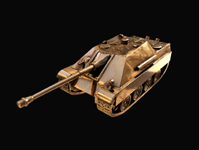 Tank - Jagdpanther - size Large in 14k Gold Plated Brass