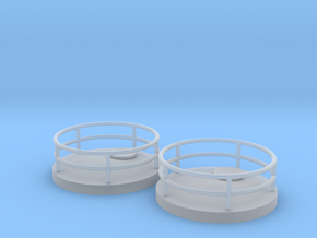 """'N Scale' - (2)Stor. Tank Top (Conical) - 1/2"""" PVC in Smooth Fine Detail Plastic"""