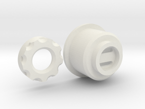 PixelBlade Bladeplug 25-21 tube in White Natural Versatile Plastic