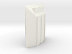 merritt front end cap  in White Natural Versatile Plastic: 1:64 - S
