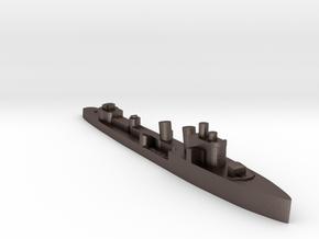 Italian Nembo destroyer WW2 1:1800 in Polished Bronzed-Silver Steel