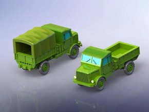 Borgward B2000 Flatbed Trucks 1/200 in Smooth Fine Detail Plastic