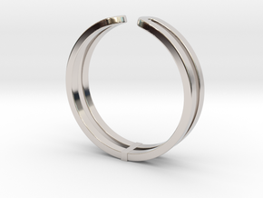 Loop Ring in Rhodium Plated Brass: Small