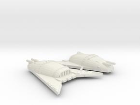 3788 Scale Hydran Rhino Hunter War Destroyers, 2 in White Natural Versatile Plastic