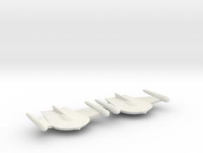 3788 Scale Romulan War Eagles (2) MGL in White Natural Versatile Plastic