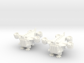 6mm - Gryphon VTOL Dropship in White Processed Versatile Plastic