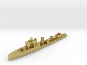Italian Aquilone destroyer WW2 1:1800 in Natural Brass