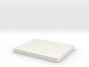 1:285 Vehicle/figure rectangular base in White Natural Versatile Plastic