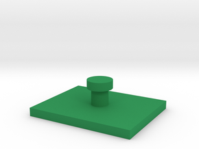 1:285 vehicle rectangle hover base in Green Processed Versatile Plastic