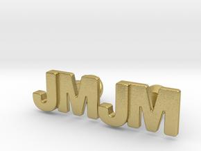 Monogram Cufflinks JM in Natural Brass