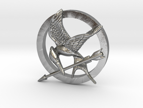 Mocking Jay Pendant in Natural Silver
