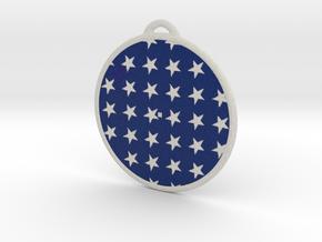Flag Ornament in Natural Full Color Sandstone